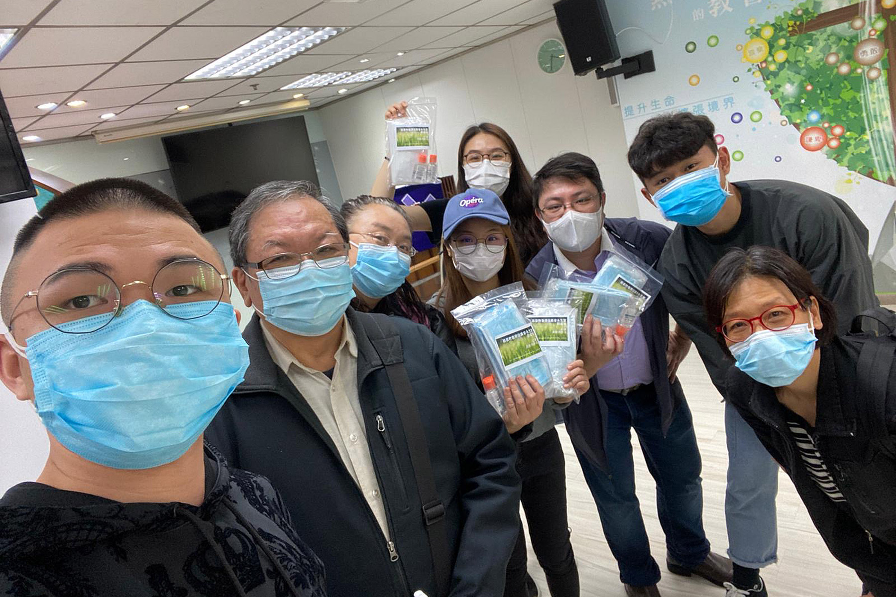 Volunteers at the Eternal Life Lutheran Church are grateful for all contributions to their outreach ministry, including face masks sent by the Lutheran Youth Network in Indonesia