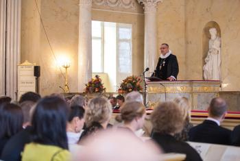 The Evangelical Lutheran Church in Denmark is opposing a draft law that would require all religious sermons to be translated into Danish. Here, Bishop Henning Toft Bro preaches at the State Opening of the Danish Parliament. Photo: Diocese of Aalborg