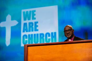 LWF President Archbishop Dr Panti Filibus Musa addressing the 2019 ELCA Churchwide Assembly: All Photos: Will Nunnally/ELCA