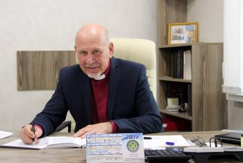 Yuri Novgorodov, Archbishop of the Evangelical Lutheran Church in the Republic of Kazakhstan. Photo: LWF/A. Weyermüller