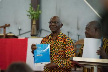 Prof. Ansu Sonii, Liberian Minister of Education launched the study. All photos: LWF/ Albin Hillert