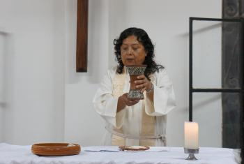 Pastor President Adita Torres Lescano of the Lutheran Church of Peru. Photo: LWF/P.Cuyatti