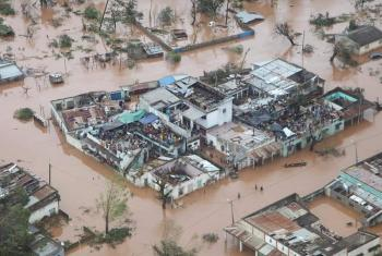 Aerial view of flooding caused by cyclone Idai in Mozambique. Photo: Lutheran Media Forum