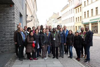 Participants of the 19th International Seminar for pastors during an excursion in Wittenberg, Germany. Photo: LWF/A. Weyermüller