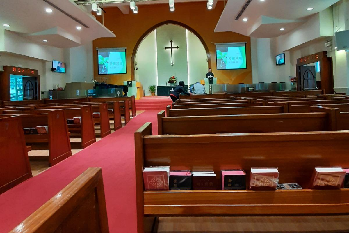 """""""A few churches cancelled Sunday services on 9 February, more joined them on 16 February, and still more on 23 February. All other church programs and gatherings have been cancelled. Most kinds of pastoring and fellowship, including Sunday worship, can only be done via internet or telephone."""" Photo: Joyce Hon/Chinese Rhenish Church Hong Kong Synod"""